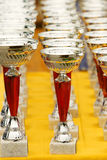 Silver champion trophies Stock Image