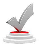 The silver check mark Royalty Free Stock Images