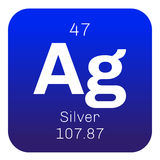 Silver chemical element Stock Photography
