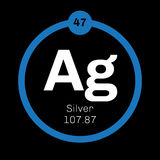 Silver chemical element Stock Photo