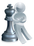 Silver chess man Royalty Free Stock Image