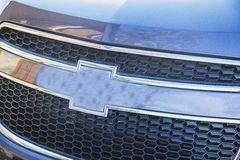Silver  chevrolet cruise radiator grill Stock Image