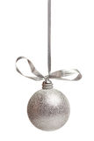Silver chistmas decoration Stock Photo