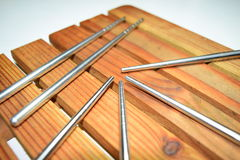 Silver Chopsticks Stock Photography
