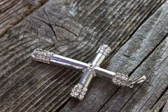 Silver christian cross Royalty Free Stock Images
