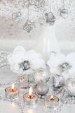 Silver Christmas Royalty Free Stock Photography