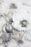 Silver Christmas stock image