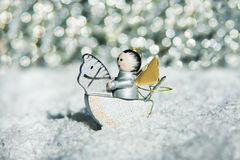 Silver christmas angel Stock Photography