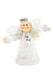 Silver christmas angel decoration Royalty Free Stock Photos