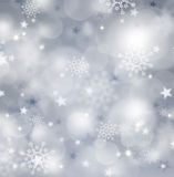 Silver christmas backgound. Royalty Free Stock Photography