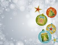 Silver christmas background,  Royalty Free Stock Photography