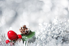 Silver Christmas background Royalty Free Stock Images