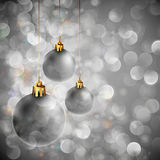 Silver Christmas Background Royalty Free Stock Photography
