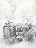 Silver christmas background Royalty Free Stock Image