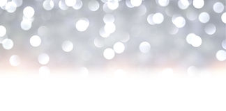 Silver christmas background. Silver defocused christmas background Bright bokeh. Vector illustration Royalty Free Illustration