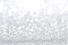 Silver christmas background Stock Image