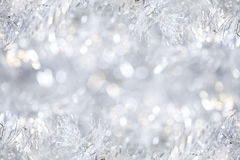Silver Christmas background Stock Photography