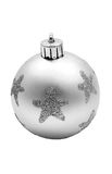 Silver Christmas ball Stock Photo