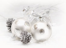 Silver christmas ball Stock Image