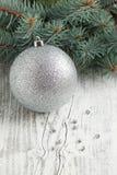 Silver Christmas Ball Stock Photo
