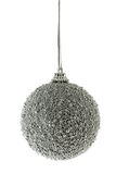 Silver Christmas ball. Isolated over white background Stock Photography