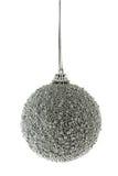 Silver Christmas ball Stock Photography