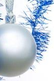 Silver christmas ball Stock Images