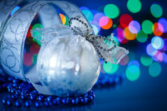 Silver Christmas ball Stock Photos