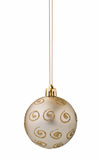 Silver christmas ball cutout. Silver christmas ball on white background with clipping path Stock Photo