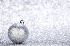 Silver christmas ball Royalty Free Stock Photography