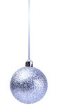 Silver christmas ball isolated Stock Images