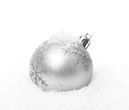 Silver christmas ball Royalty Free Stock Photography