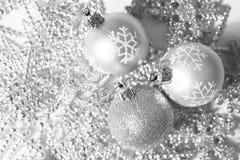 Silver christmas balls Royalty Free Stock Image
