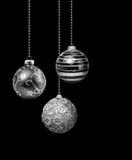 Silver Christmas balls Royalty Free Stock Photo