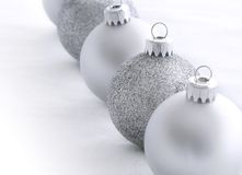 Silver Christmas Balls Royalty Free Stock Image