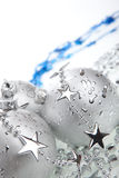 Silver Christmas balls, isolated Stock Photography