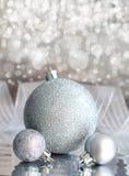 Silver christmas balls Royalty Free Stock Photography