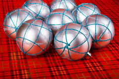 Silver Christmas balls Royalty Free Stock Images