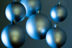 Silver Christmas balls Royalty Free Stock Photo