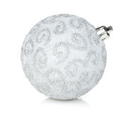Free Silver Christmas Bauble Royalty Free Stock Photo - 46886495
