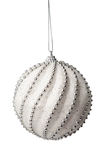 Silver Christmas bauble with clipping path Royalty Free Stock Images