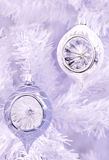 Silver Christmas bauble. Stock Image