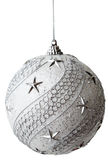 Silver Christmas Bauble With Clipping Path Royalty Free Stock Image