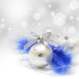 Silver christmas baubles Royalty Free Stock Photos