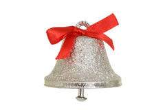 Silver christmas bell Royalty Free Stock Image