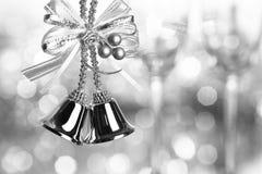 Silver Christmas bells Stock Image