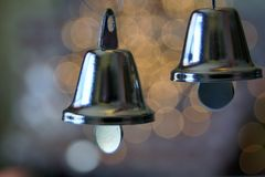 Silver Christmas Bells Royalty Free Stock Images