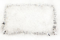 Silver christmas border Stock Images