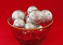 Silver Christmas Bulbs Stock Photography