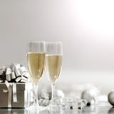 Silver christmas card Royalty Free Stock Image